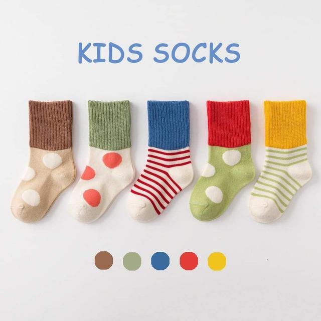 🟠五色可愛小童襪🧦/一組5雙