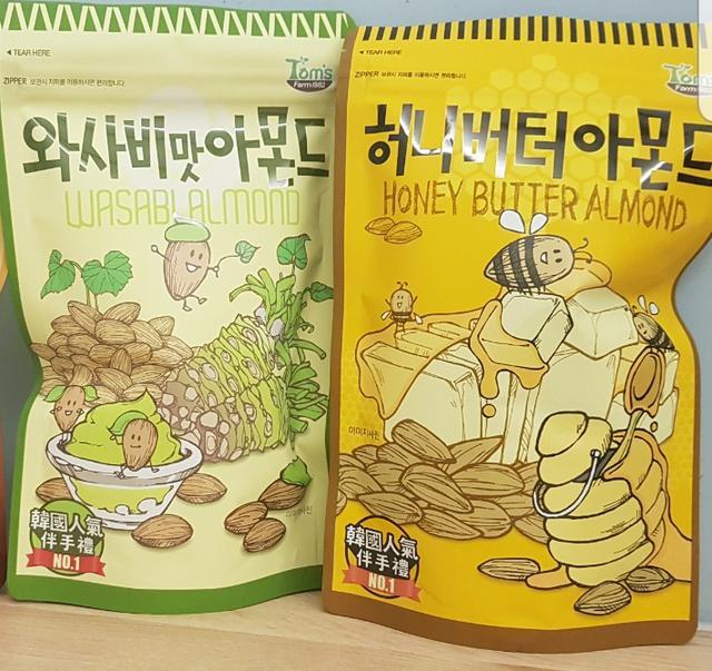 😊韓國Tom's gilim 杏仁果(芥末/蜂蜜奶油)