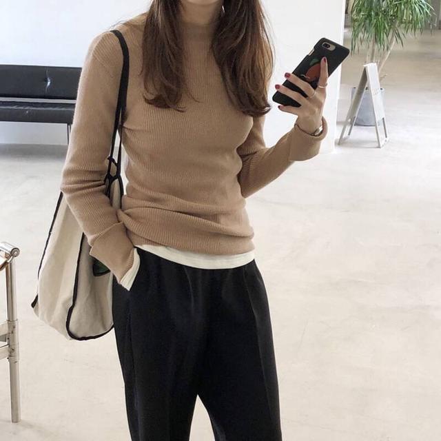 平價款-高領保暖毛衣針織衫