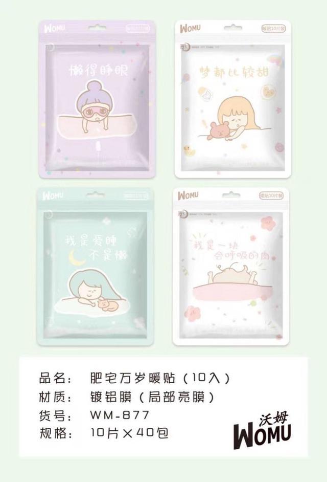 C733創意療愈系黏貼式暖暖包(1包10片)