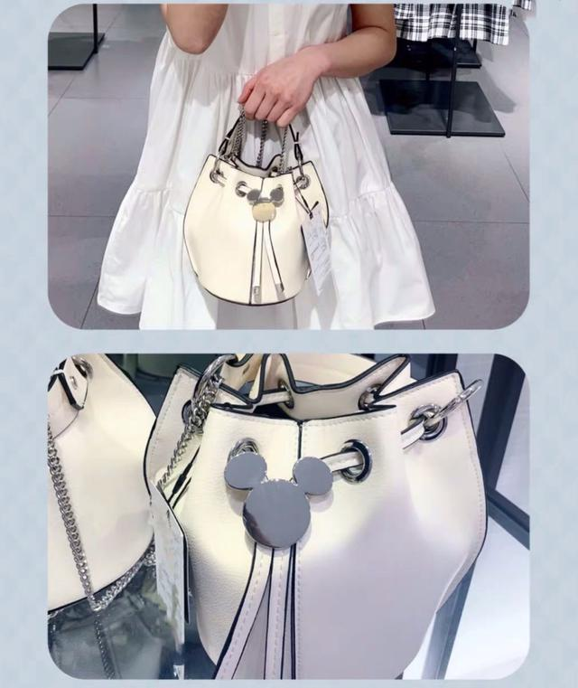 ZARA女包2020新款女包迪士尼米老鼠装饰束口女提包迷你单肩斜挎包新潮风格