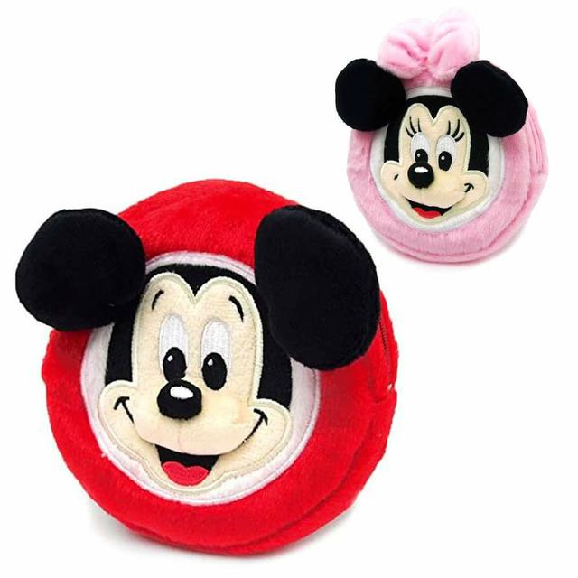 立體絨毛刺繡收納包-米奇 米妮 迪士尼 正版日本進口授權