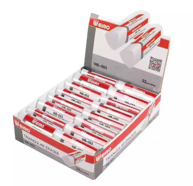 歐美熱銷三角橡皮擦(32入1盒)