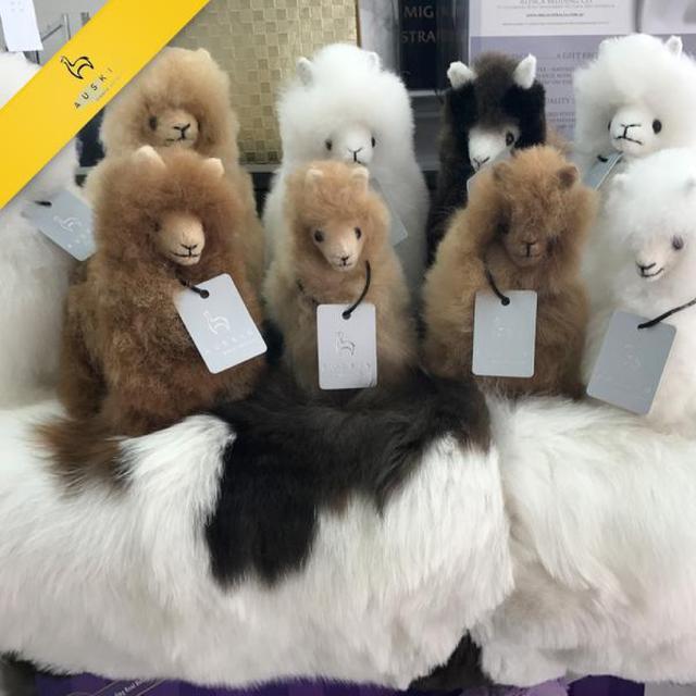 澳世家AUSKIN 純100% 羊駝駝羊/ 草泥馬毛玩偶