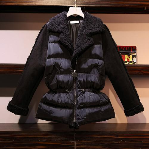 11 XL-5XL 大碼 加絨加厚羽絨棉服外套(2色)