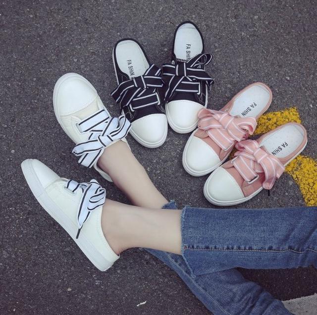 【預購】半拖鞋休閒帆布鞋