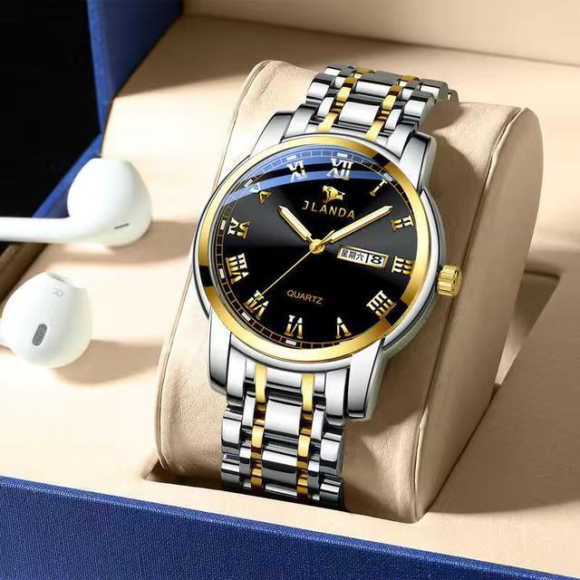 瑞士正品全自動機械手錶男士女士簡約夜光防水雙日曆腕表