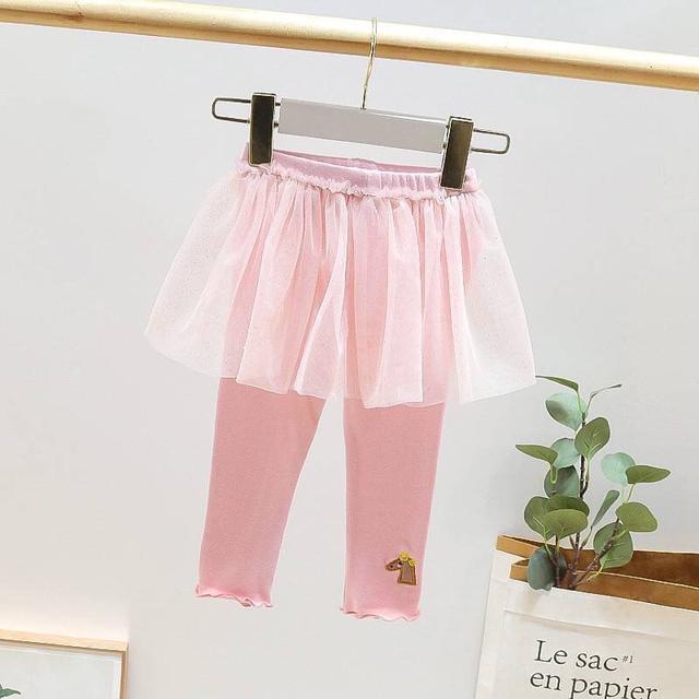 KD115-6 亮片網紗裙褲