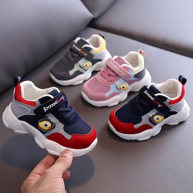 2020春秋季新款童鞋兒童彩虹透氣寶寶學步鞋輕底男女童機能鞋