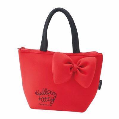 現貨 日本 正品 Hello Kitty 厚棉 潛水布 手提袋 便當袋 包包