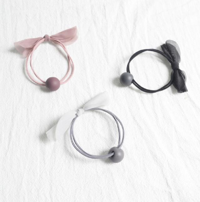 (6入)(混出)蝴蝶結髮圈