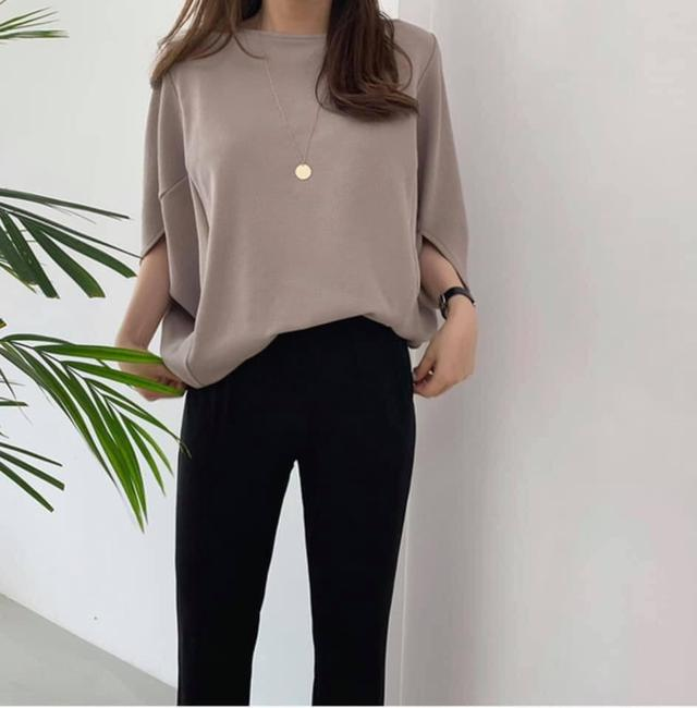 韓國飛鼠寬袖五色上衣