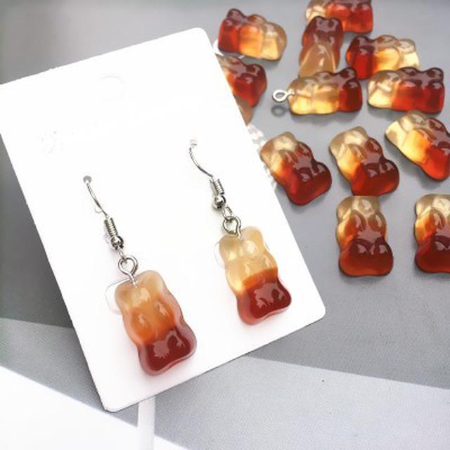 可樂小熊軟糖造型耳環