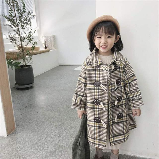 【預購】韓版單排釦毛呢中長版大衣