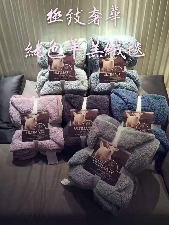 [雜貨店]💘*純色加厚法蘭絨羊羔絨毯被