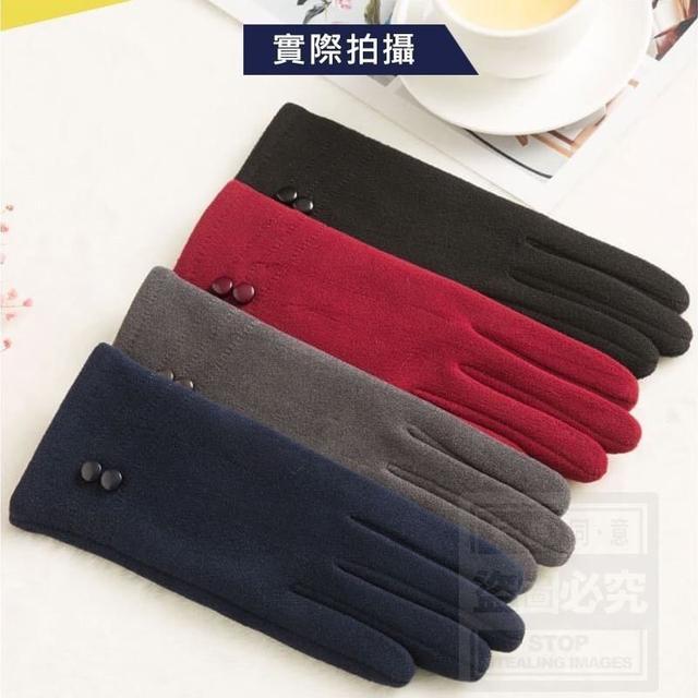 (預購e) 女士觸控加絨時尚手套