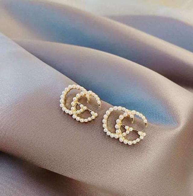 (預購S) H192 - 韓國925銀針雙G珍珠耳環