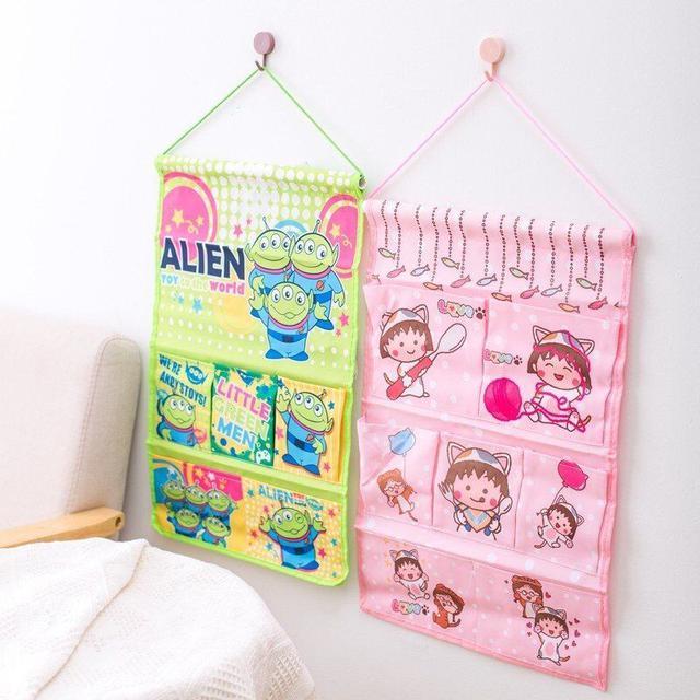 預購卡通墙掛式韓版收纳袋布藝儲物袋(T)