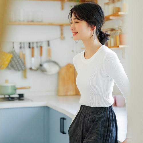 11 針織顯瘦打底衫(4色)