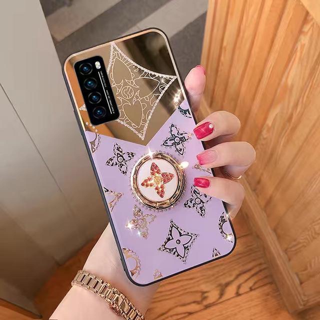 華為nova7化妝鏡面手機殼鑲鑽nova5iPro網紅新款43i女子6SE保護套