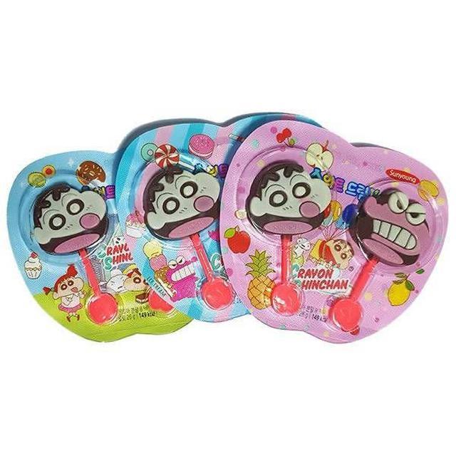 韓國 Sunyoung 蠟筆小新雙棒代可可脂巧克力 26g (一組2隻)