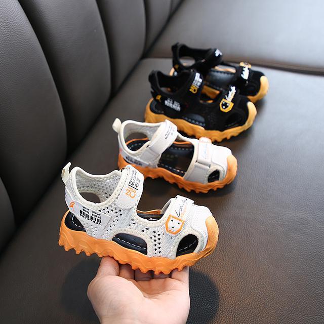男童女童2020新款魔術貼夏季透氣涼鞋寶寶學步鞋可愛耐磨防滑童鞋