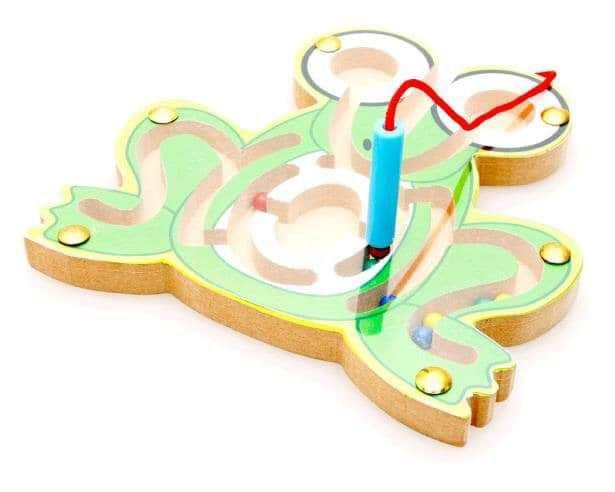 (預購S) 3D立體可愛動物木質益智磁吸球迷宮