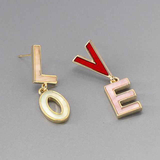 韓系L.O.V.E耳環