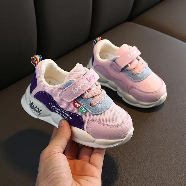 秋季新款網布兒童運動鞋防滑軟底中小童男女童寶寶學步機能鞋
