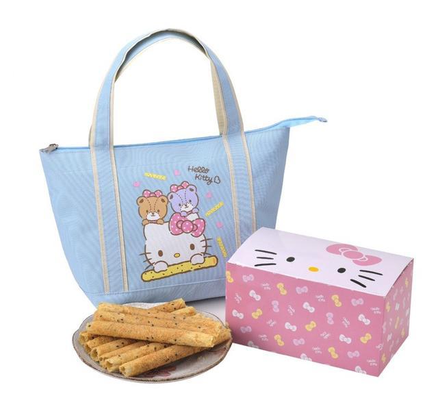 Hello Kitty芝麻蛋捲禮盒-小熊好友~環保限量版提袋