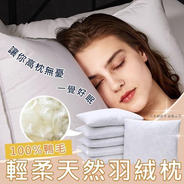 (現貨)100%輕柔天然羽絨枕