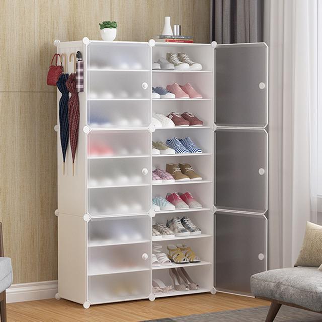 升級拉手膜片鞋櫃  大容量簡易鞋櫃