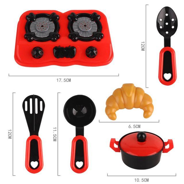【預購】仿真廚房玩具12件組