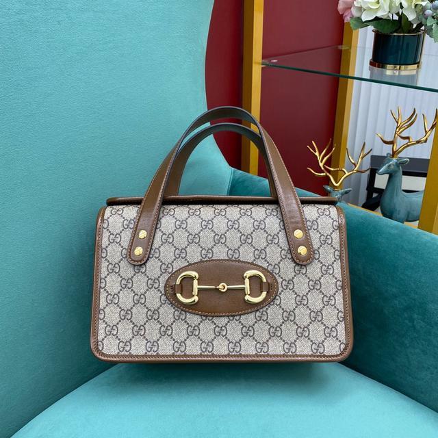 Gucci 1955馬銜扣手提盒子包