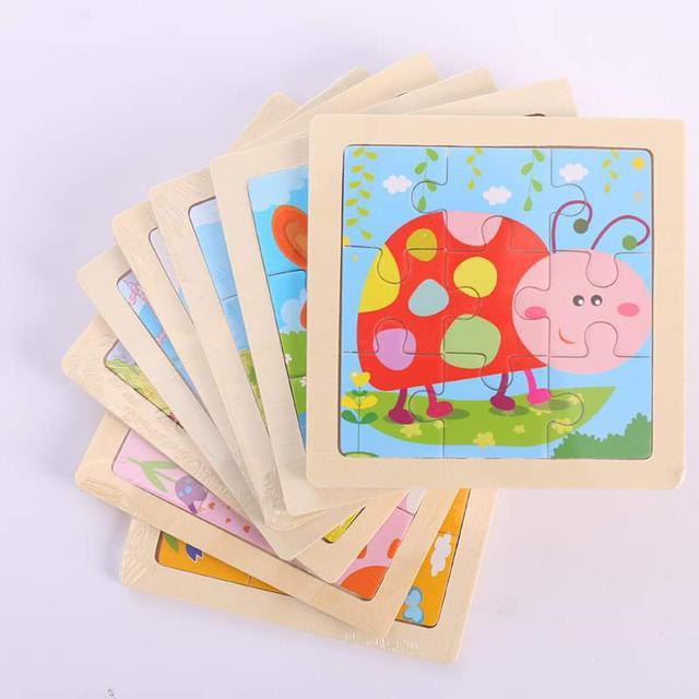 【現貨】兒童早教木製拼圖(9片)