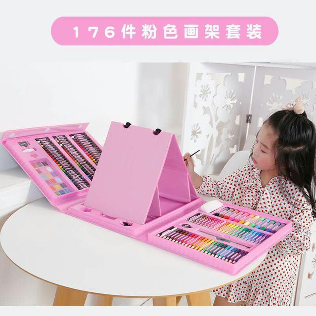 【176件畫板繪畫文具組】     粉/藍 隨機出貨不挑款