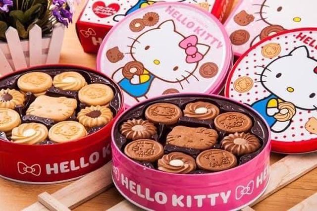 日本原裝禮盒✨ Kitty貓餅乾圓盒(60枚/盒)