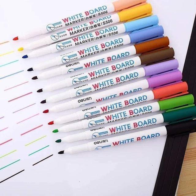 【現貨】兒童繪畫彩色白板筆(12色)