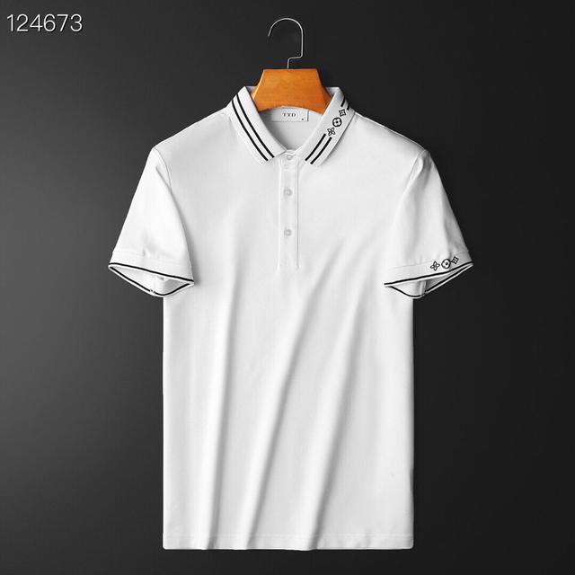 LouisVuitto* 路易威* 2021年夏季新款絲光棉短袖POLO衫