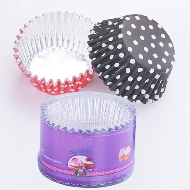 60入11.5CM 加厚鍍鋁印花馬芬紙杯 烤箱用高溫蛋糕紙托 蛋糕紙杯 烘焙高溫杯 PVC盒裝