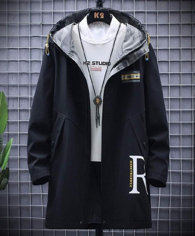 【預購】潮流立領風衣外套