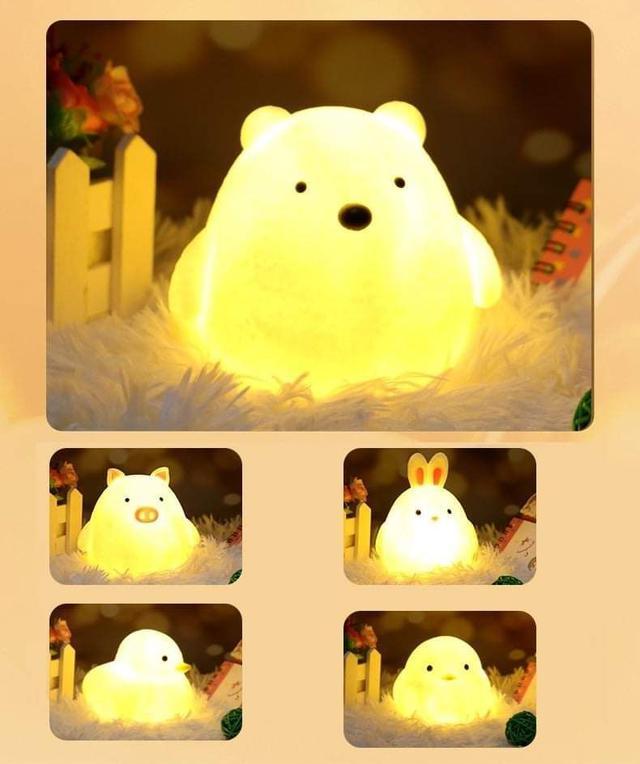 (預購S) G996 - 可愛動物LED小夜燈