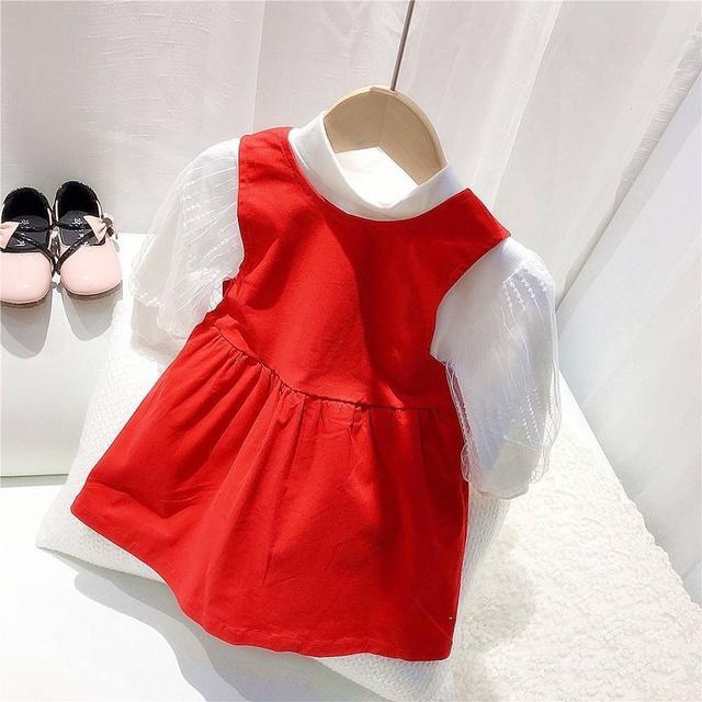 KD22-02 蝴蝶結背心裙套裝