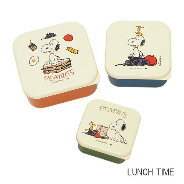 日本🇯🇵史努比系列 可微波保鮮盒飯盒 3入組