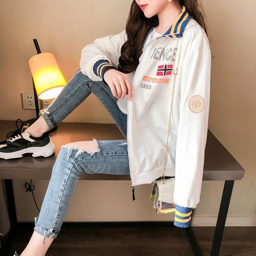 11 流行款 M-2XL 韓版 棒球服 拉鍊夾克外套(2色)