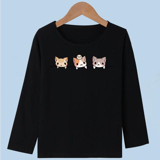 100%棉新款兒童長袖T恤女孩長袖T恤中大童女童長袖寶寶春秋打底衫