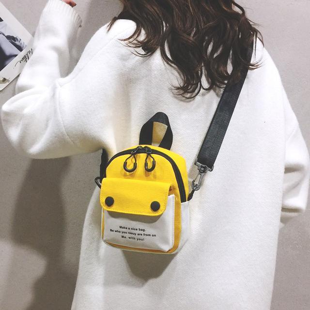 (預購)新款百搭少女手機包mini迷你寬肩带學生斜挎包(米)