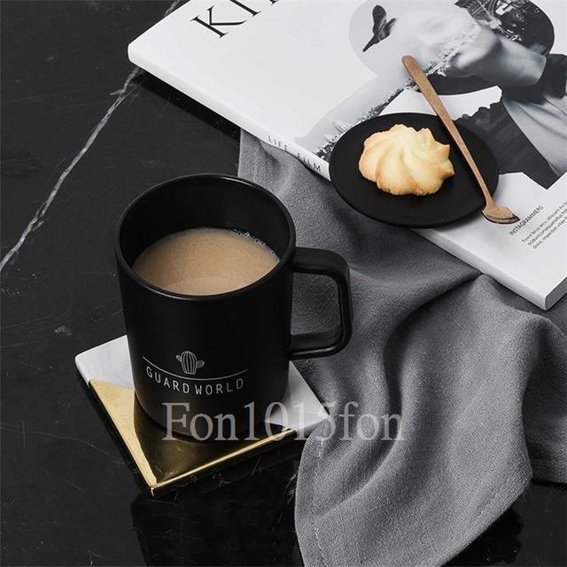 《簡約風水杯、咖啡杯.北歐帶蓋小杯子》