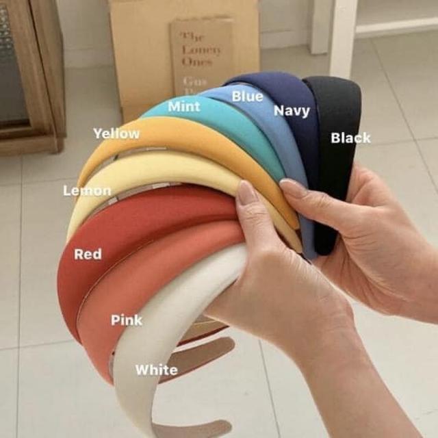 #預購H224 -韓國復古糖果色布藝髮箍 #lup 批價:39髮箍