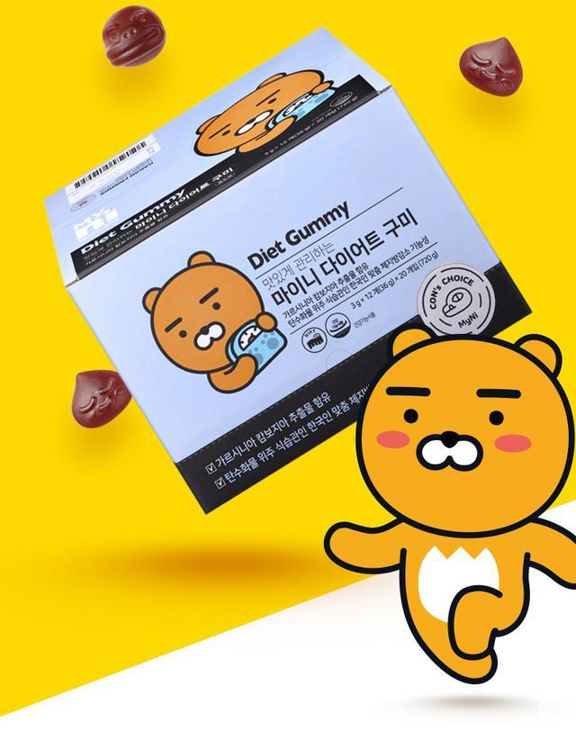 現+預   韓國 kakao Myni 藤黃果 纖體軟糖 12顆/包 36g